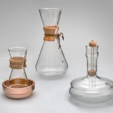 3-Quart Coffeemaker, Pint Coffeemaker and Flash Waterbath  1949; Gas Kettle  1950