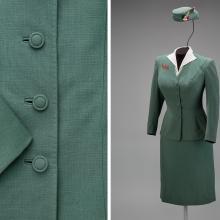 Trans World Airlines hostess uniform by Oleg Cassini