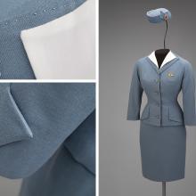Pan American World Airways stewardess uniform by Don Loper  1959