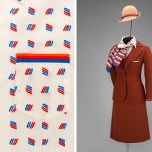 United Airlines flight attendant uniform by Stan Herman  1976