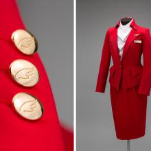 Virgin Atlantic Airways flight attendant uniform by Vivienne Westwood  2014