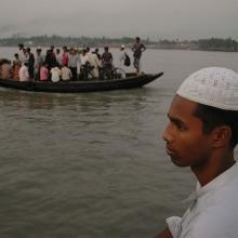 Ferry Boat on Rupsha River, Khulna, Bangladesh  2009