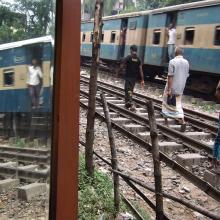 Railroad Tracks, Dhaka, Bangladesh  2009