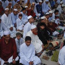 Eid in Mosque, Dinajpur, Bangladesh  2008