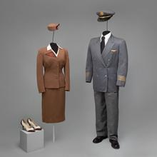 TWA (Trans World Airlines) captain uniform and insignia  c. 1955