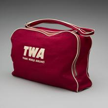 TWA (Trans World Airlines) flight bag 1950s