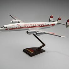 TWA (Trans World Airlines) Lockheed 1649 Starliner model aircraft late 1950s