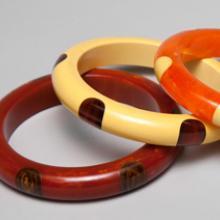 Polka dot bracelets c. late 1920s–40