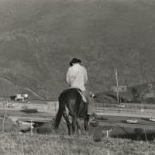 Untitled, from the series Back to the Ranch, above Highway 580, Dublin, Alameda County, California  1994 Matthew James O'Brien digital print Courtesy of the artist R2013.3401.006